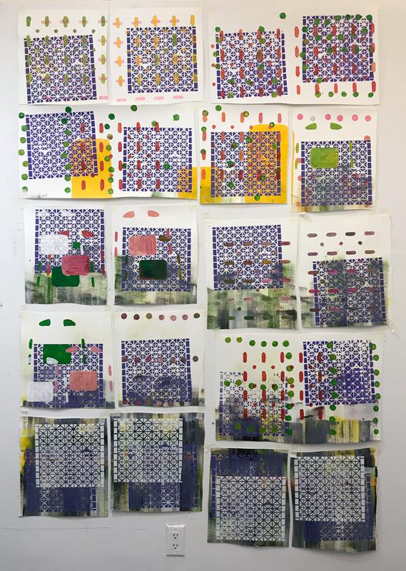Monica Llorente Grids Series Art Artist