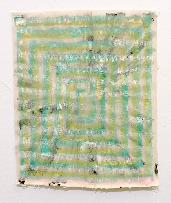 Monica Llorente: Portals Emerald Green. Artist, Art. painting